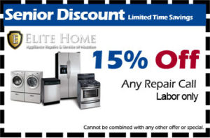 Appliance Repair Senior Discount Coupon