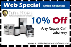 Appliance repair Spring, Tx coupon
